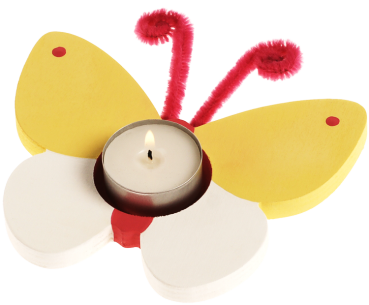 "Tealight Holder ""Butterfly"", Set of 3"
