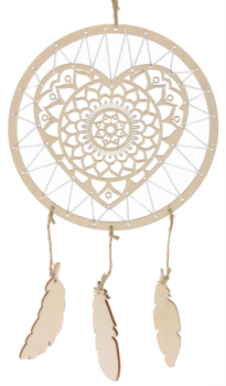"Wooden Ornament ""Dreamcatcher"", 1pc."