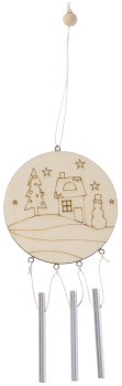 "Wind Chimes ""Winter Wonderland 2"", 1pc."