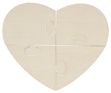 "DIY Puzzle ""Heart 4pcs"", 1pc."
