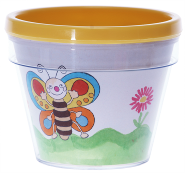 "Flower Pot ""For Self-Colouring"", 1pc."